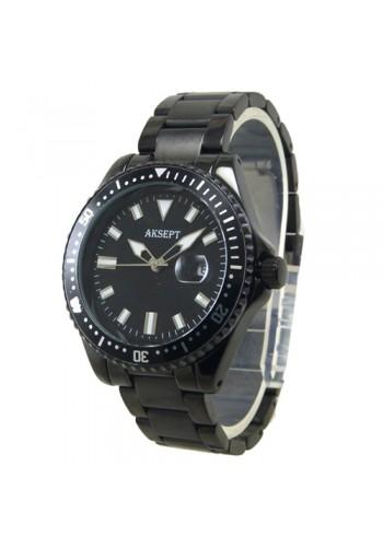 2165-3 Мъжки часовник  AKSEPT  с метална верижка