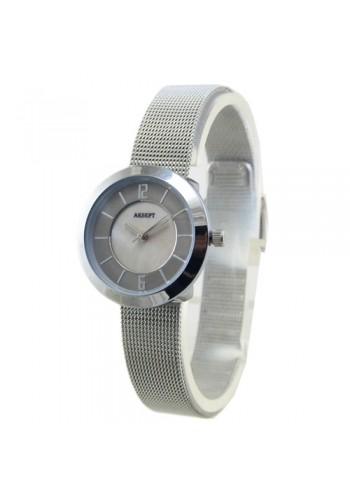 2140-2  Дамски часовник  AKSEPT  с метална плетена верижка