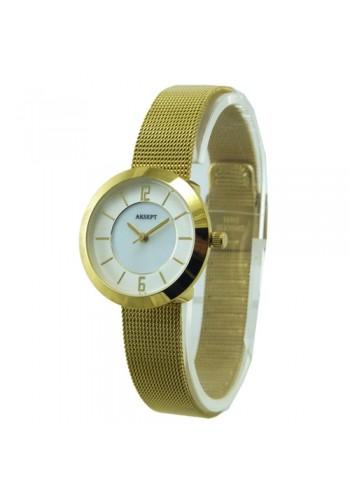 2140-3  Дамски часовник  AKSEPT  с метална плетена верижка
