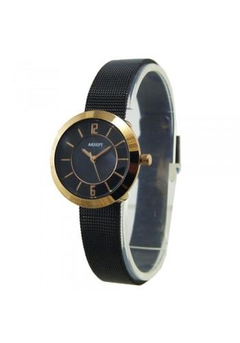 2140-5  Дамски часовник  AKSEPT  с метална плетена верижка
