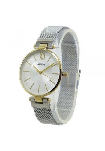 2153-2  Дамски часовник  AKSEPT  с метална плетена верижка