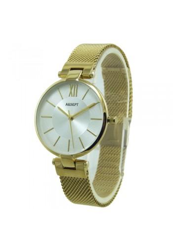 2153-3  Дамски часовник  AKSEPT  с метална плетена верижка