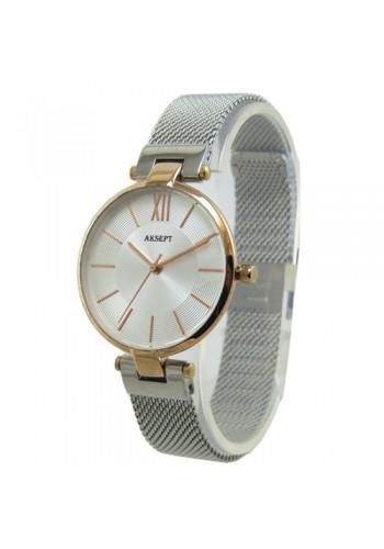 2153-4  Дамски часовник  AKSEPT  с метална плетена верижка