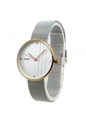 2155-1  Дамски часовник  AKSEPT  с метална верижка