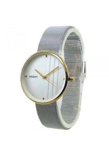 2155-2  Дамски часовник  AKSEPT  с метална верижка
