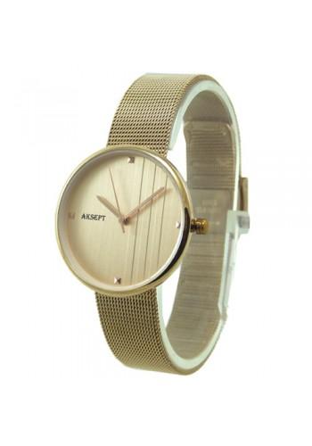 2155-4  Дамски часовник  AKSEPT  с метална верижка