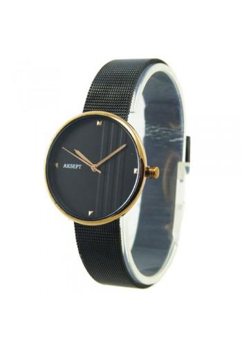 2155-5  Дамски часовник  AKSEPT  с метална верижка