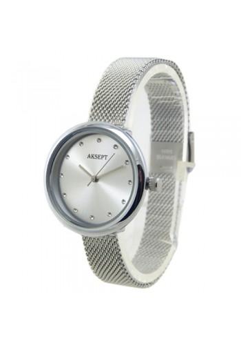 2157-1  Дамски часовник  AKSEPT  с метална верижка