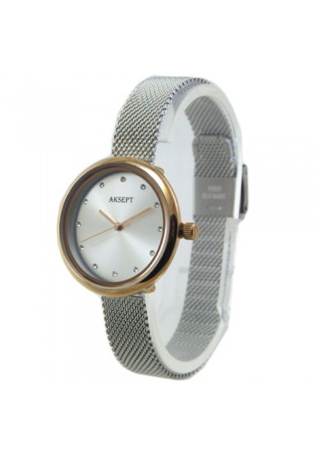 2157-3  Дамски часовник  AKSEPT  с метална верижка
