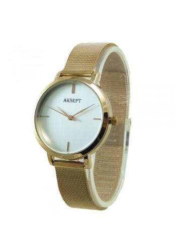 2167-1  Дамски часовник  AKSEPT  с метална плетена верижка
