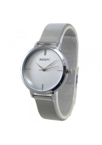 2167-2  Дамски часовник  AKSEPT  с метална плетена верижка