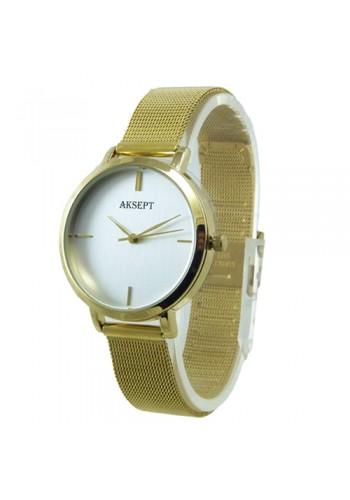 2167-3  Дамски часовник  AKSEPT  с метална плетена верижка