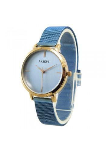 2167-4  Дамски часовник  AKSEPT  с метална плетена верижка